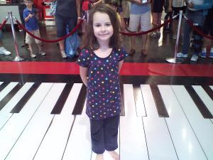 "At FAO Swartz on the ""Big"" piano."