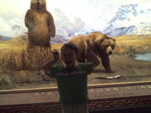 The Natural History Museum. Scary Little Man.