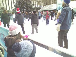 Ice Skating at Bryant Park. 5th Ave. and 42nd St.