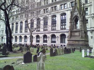 Graveyard of Old Trinity Church.