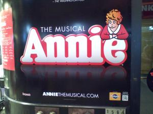Annie the Musical on Broadway. The Palace Theatre. 7th Ave. and 47th St.