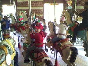 Central Park Carousel. Middle of southern end of the Park in the Children's District. Visit the Chess & Checkers House visitor center for a free park map.