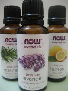 lemon, lavender and rosemary