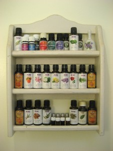 My essential oil shelf