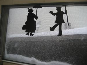 From this angle it looks like they're dancing in the snow. :)