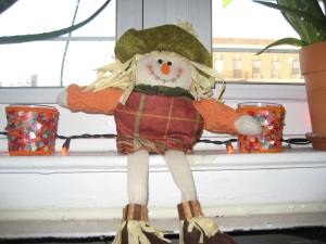 Our newest window scarecrow.