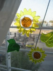 Window decals.