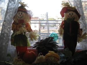 Cute scarecrows.