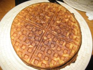 Yum! Waffles - made with my favorite cast iron waffle maker.