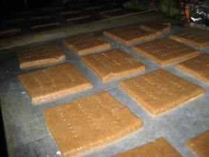 Homemade Graham Crackers - almost ready to bake.