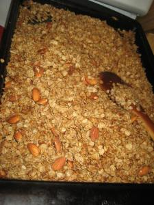 Homemade granola.