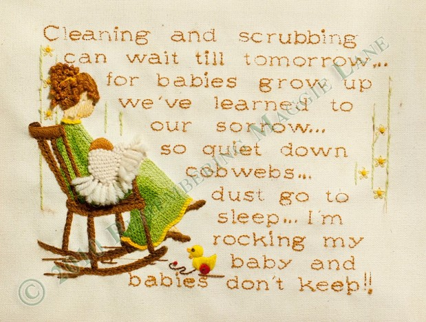 Cleaning and Scrubbing Embroidery Pattern –Sale!