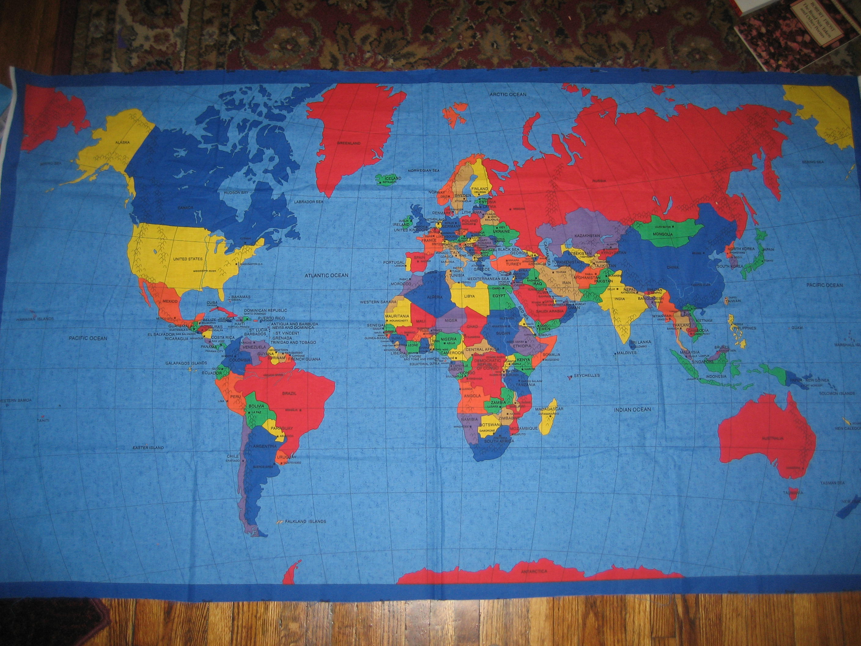 Homeschool remembering maggie lane fabric map panel for geography games gumiabroncs Images